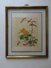 Vintage Soicher Marin Framed Art For The Las Vegas Club Oriental Birds Flowers