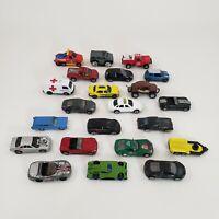 Lot of 22 Diecast Cars Hot Wheels & Matchbox Ambulance Fire Truck Johnny 2000s