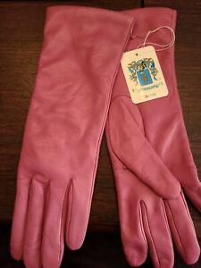 PORTOLANO Ladies New Rose Leather Gloves Size 8  MSRP $150