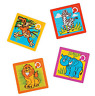 Pack of 4 - Zoo Animal Slide Puzzles - Jungle Party Bags Favours Fillers
