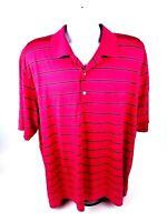 Greg Norman Mens 2XL Short Sleeve MultiColor Striped Polo Style Golf Shirt