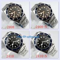Corgeut 41mm Date Sapphire Black Dial Blue Bezel Miyota Automatic Men's Watch