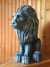 Concrete Lion Statue | Painted Solid Concrete Lion Garden Decoration