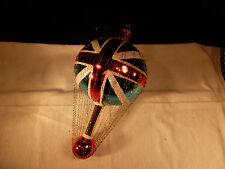LARGE CHRISTOPHER RADKO CHRISTMAS ORNAMENT BRITISH FLAG UNION JACK BALLOON