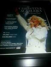 Christina Aguilera Back To Basics Tour Promo Ad Framed! Printed Once!