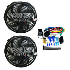 """Bel Air NEW Monster Cooling 10"""" Chiller Series Fan(s) & Relay Wiring Kit"""