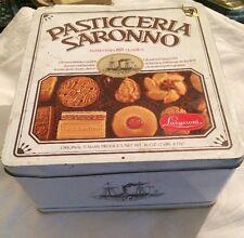 Scatola Di Latta Marca Pasticceria Saronno Lazzaroni Vintage