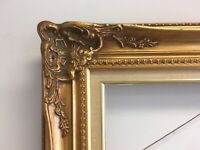 """VTG. Mid Century Victorian Design Wood Picture Frame Fits 20""""x24"""""""