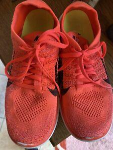 Nike Free 4.0 Flyknit Damen  Gr. 40,5 Neon Orange Mädchen Sport