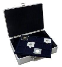 S6 Cargo portamonete con 6 12 x 50 mm Blu Feltro QUADRUM Coin Vassoi