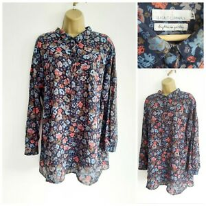 Seasalt Womens - Polpeor Shirt Scattered Flowers Magpie
