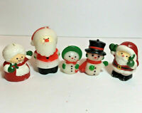 VTG Hallmark Christmas Candles Santa, Mrs Claus, Snowman Couple RARE Miniature