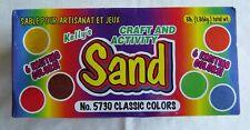 Kelly's Craft & Activity Sand 3 Lbs-6 Classic Colors-Sand Art,Terrariums,Etc New