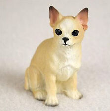 CHIHUAHUA TINY ONES DOG Figurine Statue Pet Lovers Gift Resin White Tan