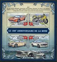 NIGER 2016 100th ANNIVERSARY OF THE BMW  SHEET  MINT NEVER  HINGED