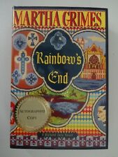 A RICHARD JURY NOVEL: RAINBOW'S END Martha Grimes 1st Ed SIGNED BrandNew HC Book