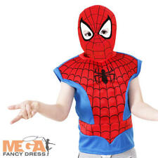 Spiderman Boys Fancy Dress Superhero Avengers Book Day Week Childs Kids Costume