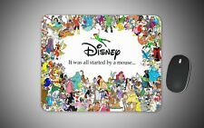 Disney mouse mat gaming laser non slip fabric rubber funny novelty gift mickey
