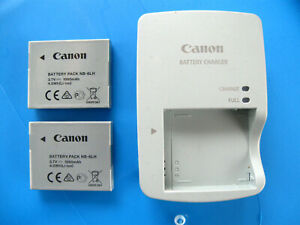 CANON POWERSHOT CB-2LY BATTERY CHARGER AND TWO BATTERIES  NB-6LH SX610HS & MORE