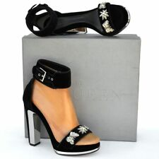 Alexander McQueen New 37.5 - 7.5 $1295 Womens Platform Heels Sandals Shoes black