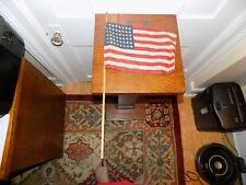 48 Star Flag on Wooden Pole
