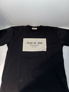 FEAR OF GOD 6th Collection Oversized T-Shirt Black Size L Auth