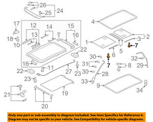 VW VOLKSWAGEN OEM 09-18 Tiguan Sunroof-Hardware Kit 4L0898057