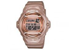 Casio BG169G-4 Women's Baby-G Grey Dial Databank Alarm Pink Resin Digital Watch