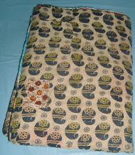 Vintage old quilt sari textile cotton patch work bed spread handmade throw ralli