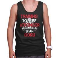 Stronger Than Goku Super Saiyan Anime TV Show Adult Tank Top Sleeveless T-Shirt
