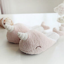 Narwhal Lovely Style Thicken Soft Cotton Floor Slippers Woman Warm Shoes GTjj