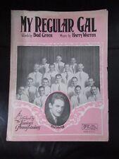 'My Regular Gal' Sheet Music 1927 Original Vintage For Piano and Ukulele
