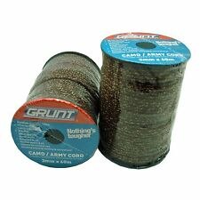 Grunt CAMO/ARMY CORD 3mmx60m, Rot Resistant, UV Protected, Braided *Aust Brand