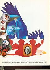 US STAMPS 1977 SET OF COMMEMORATIVE STAMPS IN FOLDER (3G639) Fabulous Folder!!!
