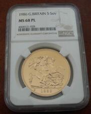 Monedas de oro NGC MS 68