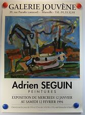 Adrien SEGUIN expose Galerie Lacydon à Marseille AFFICHE ORIGINALE/12PB