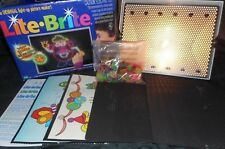 VINTAGE 1998 LITE LIGHT BRITE BRIGHT TOY IN BOX W/ PEGS & 8 UNUSED PAPERS WORKS