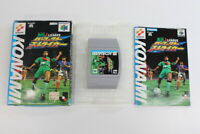 Jikkyo J League Perfect Striker Boxed Nintendo 64 N64 Japan Import E1347