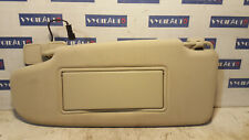 2012 VOLVO V60 S60 LH LEFT SUN VISOR & MIRROR SOFT BEIGE OEM
