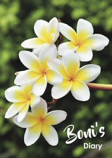 2021 diary Frangipani personalised with your name A5