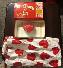 Vintage Valentines Gifts Jockey Meanswear Boxers Size 40 & Beating Heart