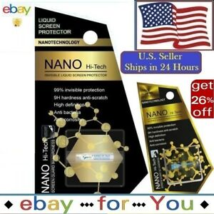 NANO Liquid Glass Screen Protector Cell Phones Universal Wipe-On Invisible HI