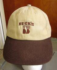 BECK'S HYBRIDS baseball hat Indiana corn seeds Grelton Elevator farming cap