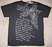 NFL Team Apparel T-shirt. Eagles.Philadelphia. 2XL/XXL. Black. NWT.Made in USA