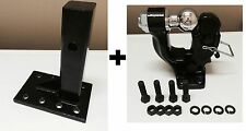"""3 ton PINTLE 2"""" Ball + Adjustable receiver BALL HITCH TOWING Heavy!!"""