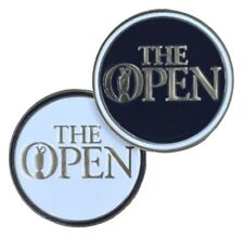BRITISH OPEN Official - FLAT - Two Sided  (Navy/White) GOLF BALL MARKER