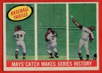 1959 Topps #464 Willie Mays EX-EX+ MARKED WRINKLE San Francisco Giants FREE S/H