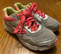 Saucony Cohesion 10LTT Grid Pink/Silver/Yellow Walking Running Shoes Girls Sz 5