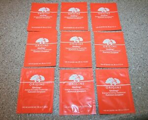 9 x Origins GinZing Energy-Boosting Moisturizer 0.05 oz Sample = 0.45 cream
