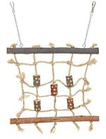 Trixie Natural Living Wood & Rope Bird Cage / Aviary Climbing Wall Toy